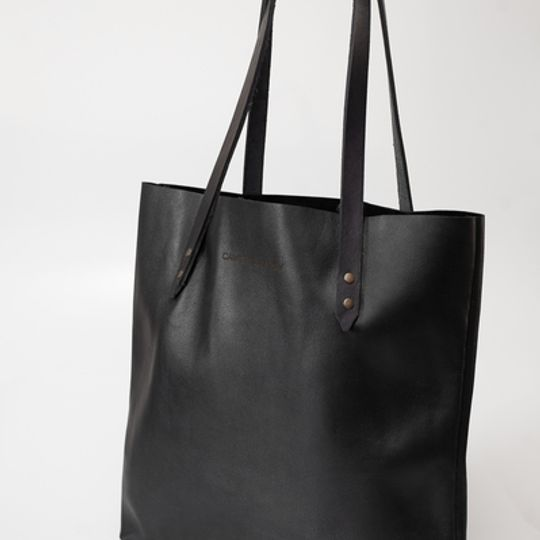 The Leather Totebag - Black