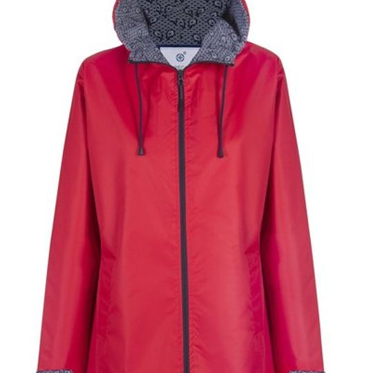 Red Long Length Raincoat