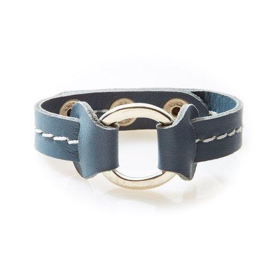 STUD Leather Bracelet with studs Dark Grey