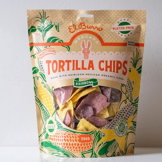 El Burro Rainbow Corn Chips 250g
