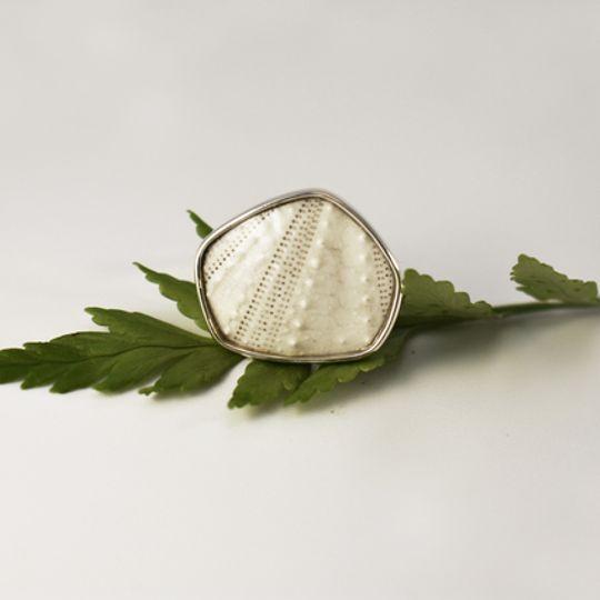 White Geo Sea Urchin Ring
