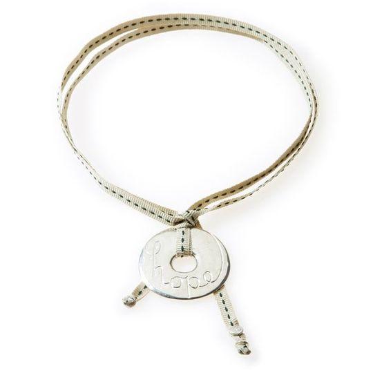 FEISTY Ribbon Necklace & Choker Hope - Stone