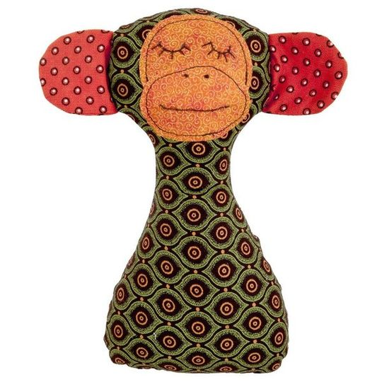 Rattle / Monkey Green and Orange - M0192