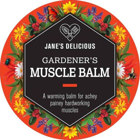 Jane's Delicious Gardener's Muscle Balm 50g