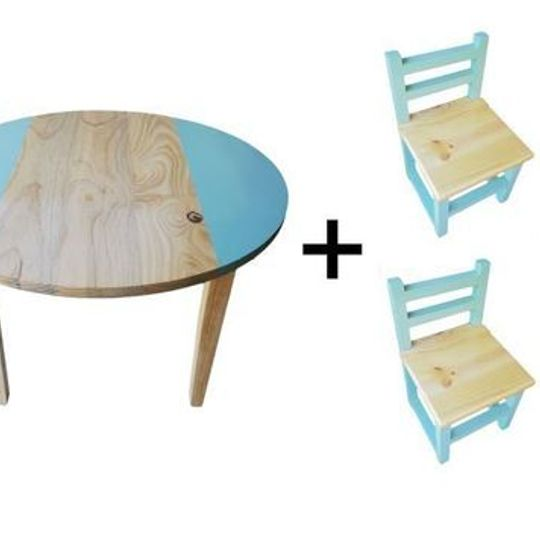 Circular Table (Large) and  4 Chairs Set