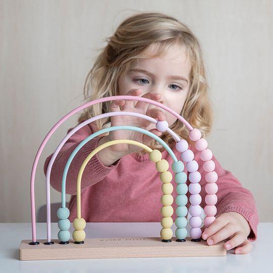 Little Dutch Rainbow Abacus - Pink
