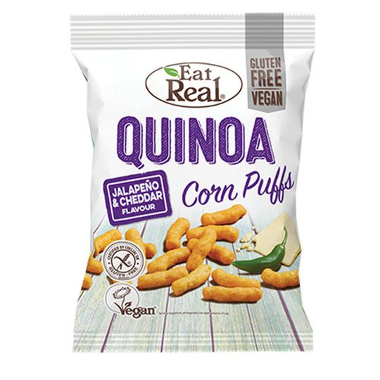 Eat Real Quinoa Corn Puffs Jalapeno & Cheddar 40g