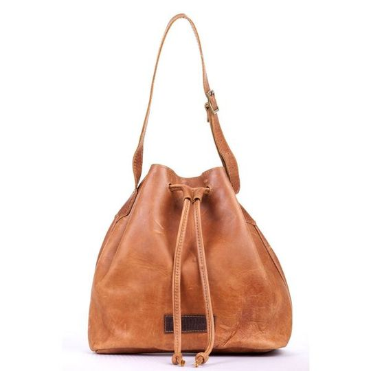 The Leather Drawstring Bag