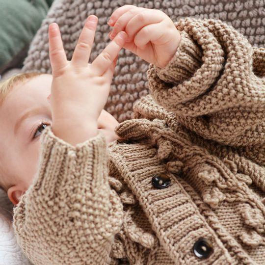 Aran Cardigan – Wool - Kids