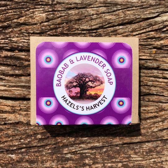 Baobab & Lavender Natural Vegetable Soap (120g bar)