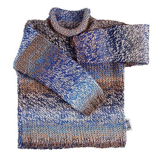 Winter Jersey / Boys - Blue Knitted Jersey - M0368