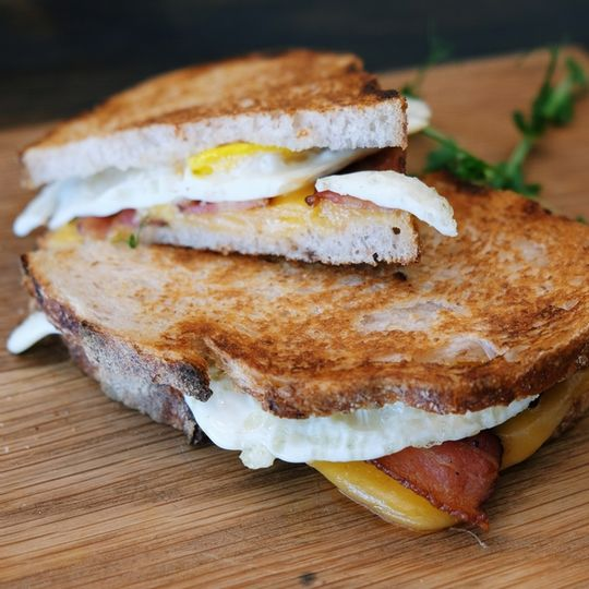 Toasted Sourdough Bacon, Egg and Cheese
