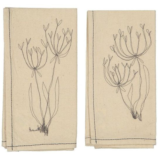 Hemp Fennel Flower Napkin (set of 4)