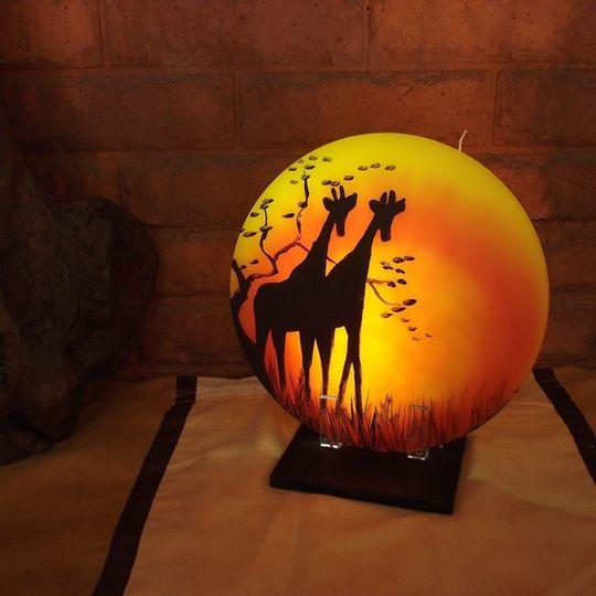 Sunset Candle - Double Giraffe
