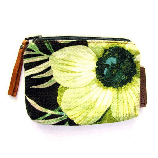Zip Purse - Black Floral