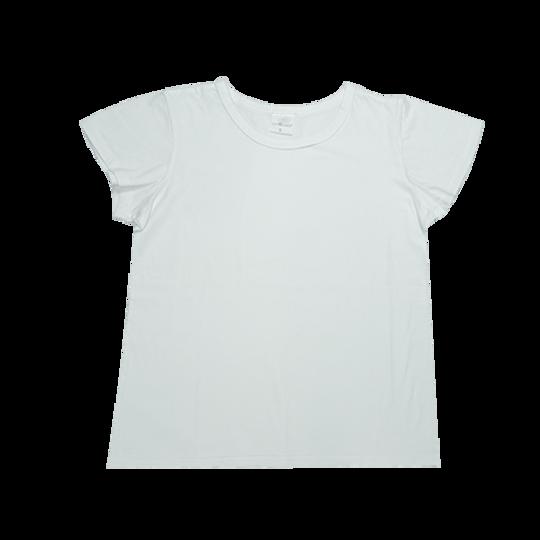 Ladies Short Sleeve - Round Neck White