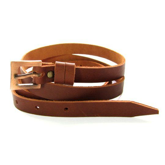 Skinny Belt - Red-brown
