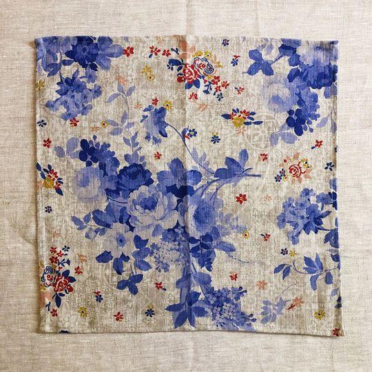 Set of 2 Delft Linen Serviettes