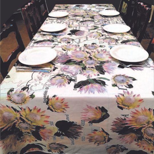 Protea Map: Table Cloth / Per Meter