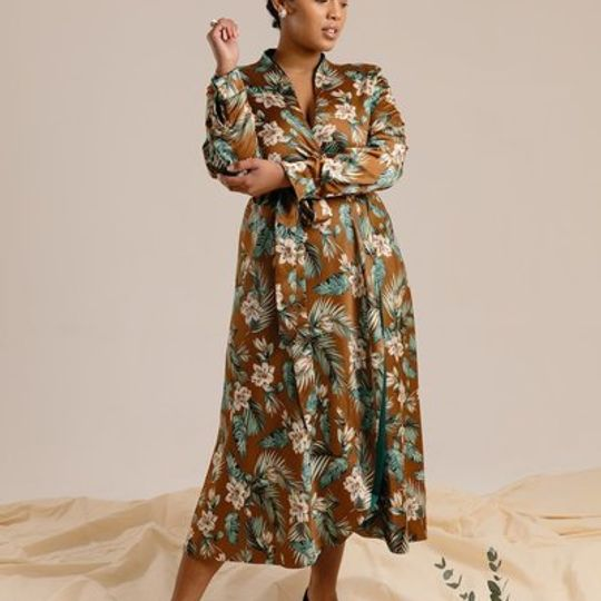 The Reversible Wrap Dress - Forest & Emerald