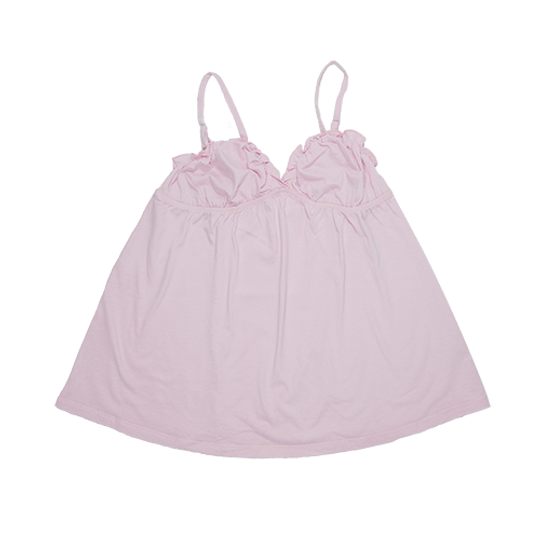 Ladies Strappy - Frill Pink