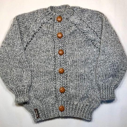 Grey Tweed Cardi