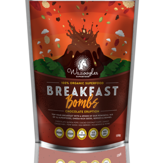 Wazoogles Superfood Breakfast Bombs - Chocolate Eruption