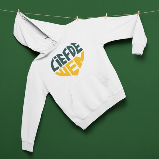 Liefde Wen Hoodie // Wit, Groen en Geel