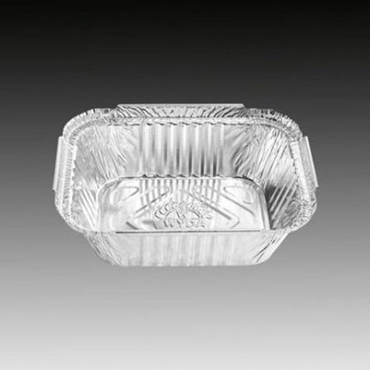 W4133- Single portion, small sized aluminium foil container with 465ml capacit