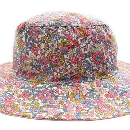 Hat / Girls - Pink Floral - M0416