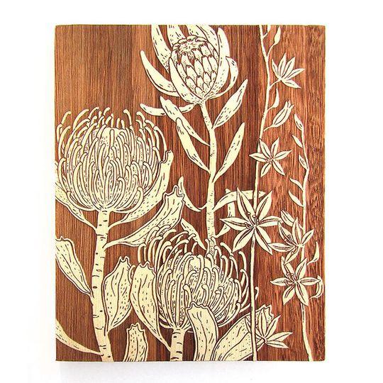 Woodblock Art - Pincushion - Bone White or Sage